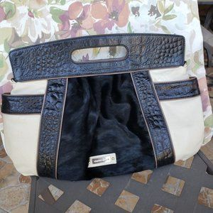 Charles David Leather with cowhide Fur bag / purse